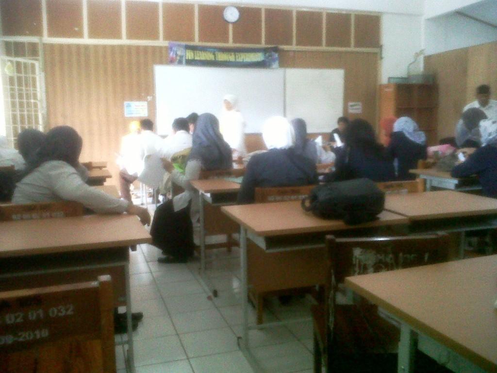 Ruang Registrasi UKG Online di SMAN 105 Jakarta Timur