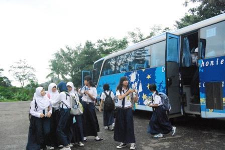 Siswa SMP labschool ketika Kunjungan Museum