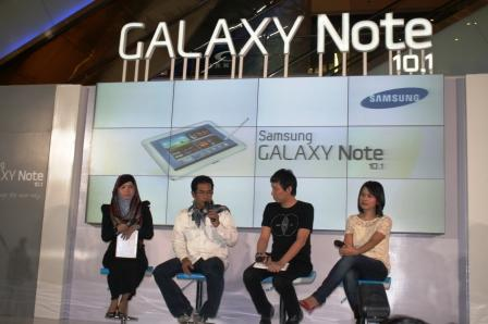 Nara sumber Peluncuran galaxy Note 10.1 di Grand Indonesia
