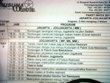 Agenda Ke Yogyakarta