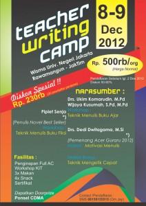 Teacher Wriring Camp di Wisma UNJ Kampus A Rawamangun, 8-9 Desember 2012