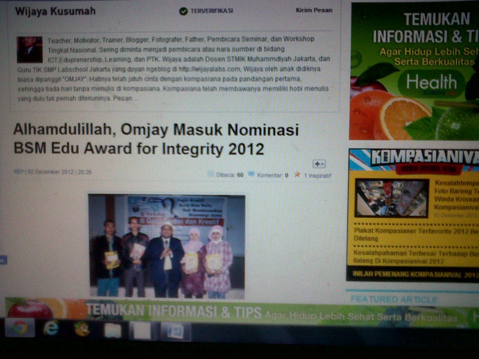 Dukung Omjay yuk! http://www.syariahmandiri.co.id/bsm-edu/finalis/wijaya-kusumah-s-pd-m-pd/