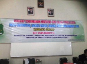 Workshop PTK di Sumenep