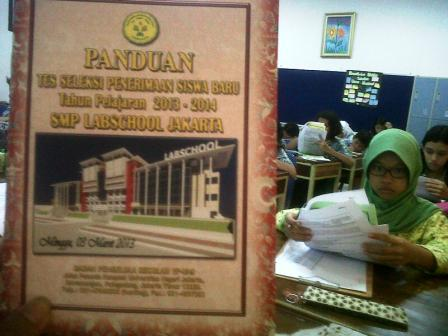 Tes PSB di SMP Labschool Jakarta