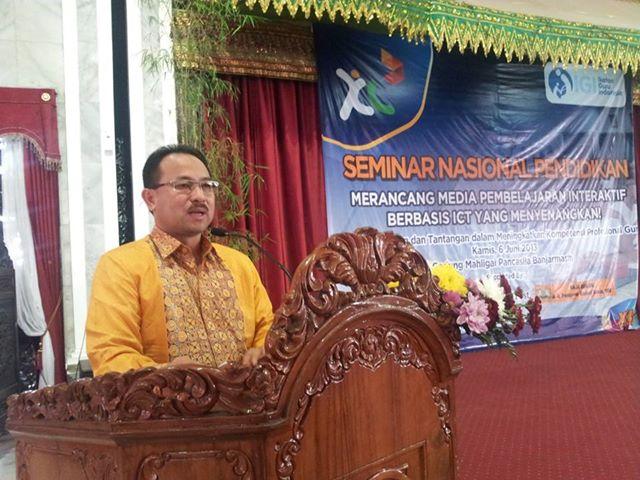 Sambutan Raja Banjar di Seminar Nasional IGI Kalsel
