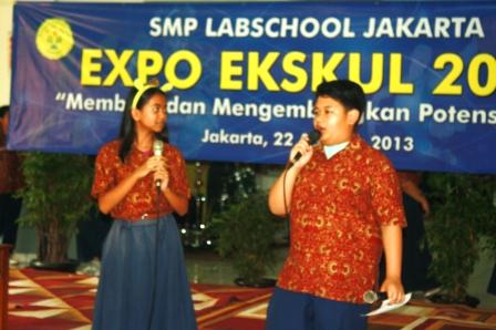Pembawa acara Expo Ekskul