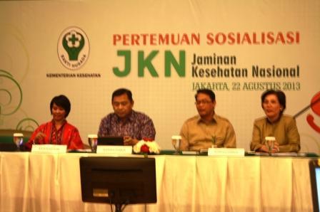 Nara Sumber Sosialisasi JKN di Balai Kartini (Mbak Riri, Pak Sukri, Pak Usman dan ibu Murti)