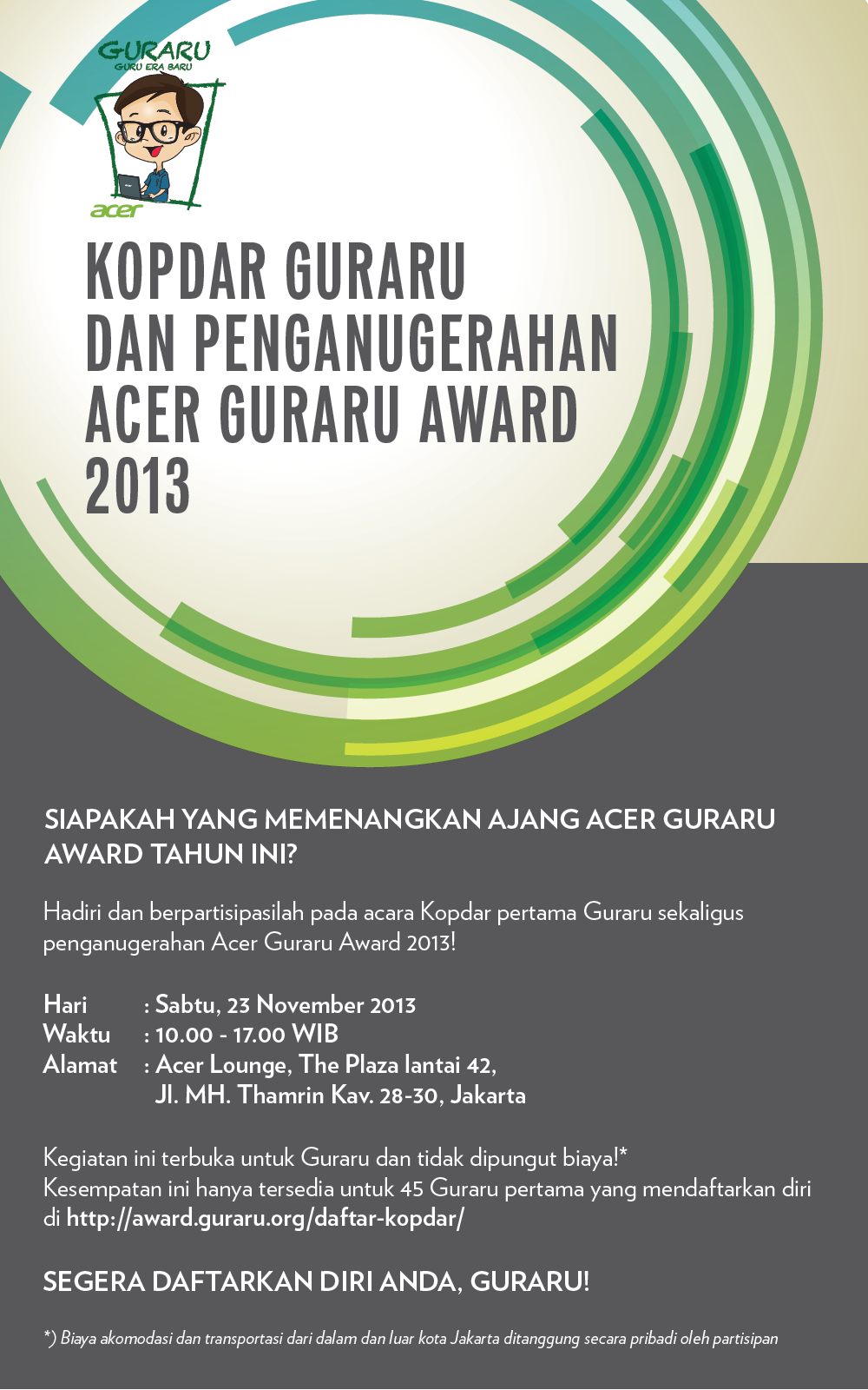 acer guraru award 2013
