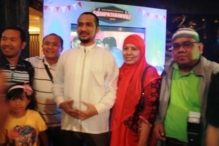 Omjay bersama Ketua KPK, Abraham Samad