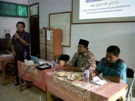 Sambutan ketua MGMP TIK Serang Banten, pak Dedy