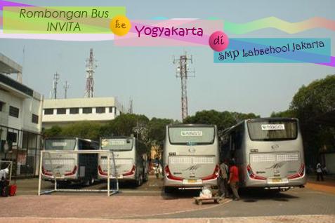 Rombongan Bus Invita ke yogyakarta di smp labschool jakarta