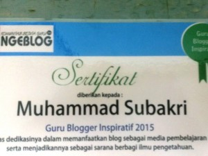 Guru blogger inspiratif KSGN 2015