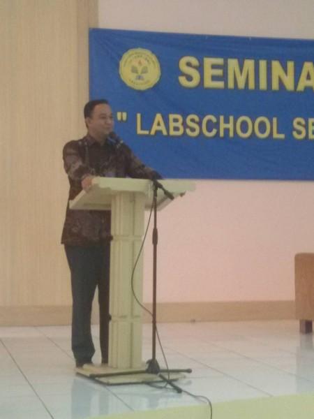 Mendikbud Anies baswedan di Labschool Jakarta