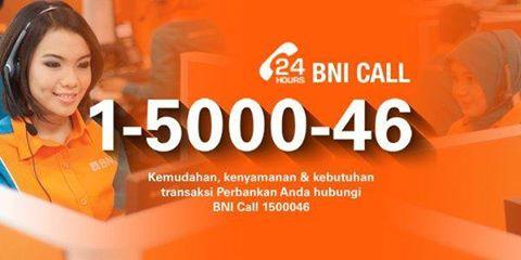 layanan BNI call 24 Jam untuk nasabah BNI