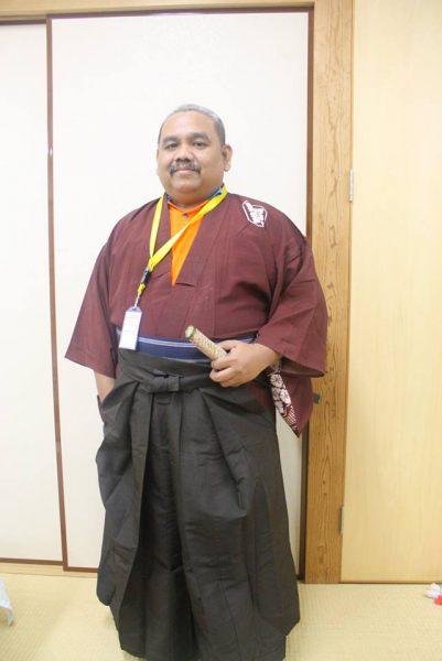 Omjay dengan baju kimono